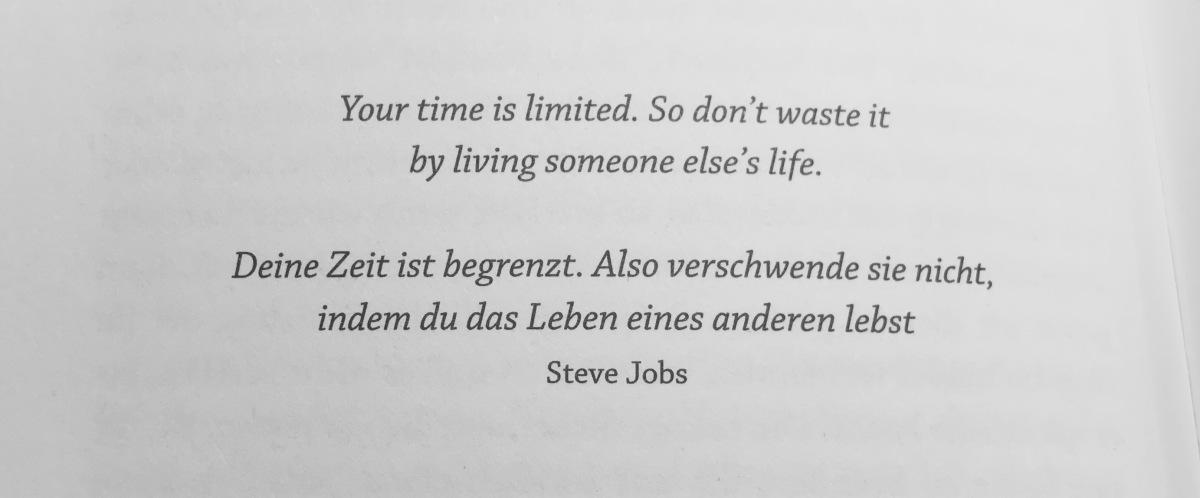 Deine Zeit ist begrenzt ⌚️